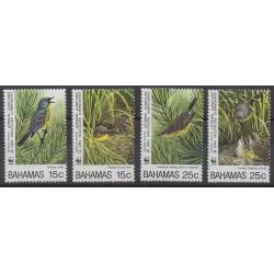 Bahamas - 1995 - Nb 851/854 - Birds - Endangered species - WWF