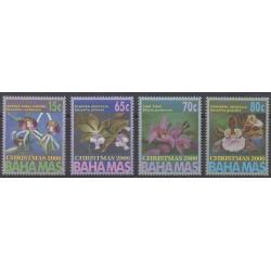 Bahamas - 2000 - No 1047/1050 - Orchidées - Noël