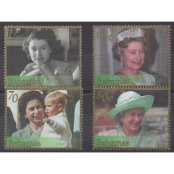Bahamas - 2002 - No 1096/1099 - Royauté - Principauté