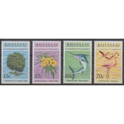 Bahamas - 1993 - No 795/798 - Animaux - Flore