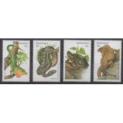 Bahamas - 1996 - Nb 899/902 - Reptils - Endangered species - WWF