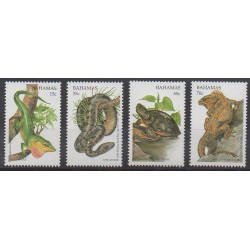 Bahamas - 1996 - No 899/902 - Reptiles - Espèces menacées - WWF