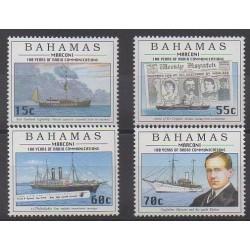 Bahamas - 1996 - Nb 890/893 - Telecommunications - Boats
