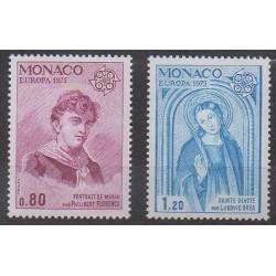 Monaco - 1975 - Nb 1003/1004 - Europa - Paintings