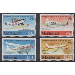 Montserrat - 1981 - No 472/475 - Aviation - Service postal
