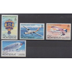 Montserrat - 1983 - Nb 523/526 - Hot-air balloons - Airships - Planes