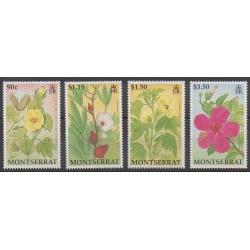 Montserrat - 1994 - Nb 822/825 - Flowers