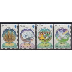 Montserrat - 1995 - No 861/864 - Nations unies