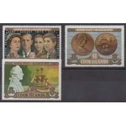 Cook (Iles ) - 1970 - No 249/251 - Royauté - Principauté - Monnaies, billets ou médailles