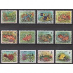 Cook (Islands) - 1992 - Nb 1024/1035 - Sea life