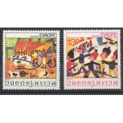 Yougoslavie - 1981- No 1787/1788 - Dessins d'enfants - Europe