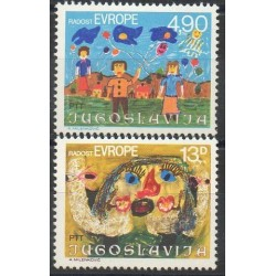 Yougoslavie - 1980- No 1740/1741 - Dessins d'enfants - Europe