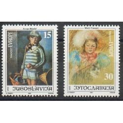 Yougoslavie - 1991- No 2370/2371 - Dessins d'enfants - Europe