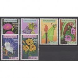 Libye - 1979 - No 770/775 - Fleurs
