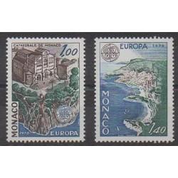 Monaco - 1978 - No 1139/1140 - Monuments - Églises - Europa