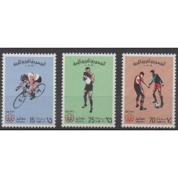 Libya - 1976 - Nb 584/586 - Summer Olympics