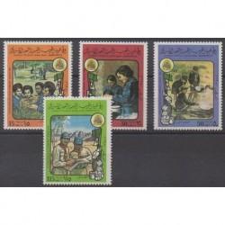 Libye - 1980 - No 870/873 - Scoutisme