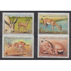 Libya - 1987 - Nb 1740/1743 - Mamals - Endangered species - WWF