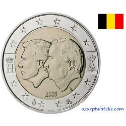 2 euro commémorative - Belgique - 2005 - Union-Economique Belgique/Luxembourg (Henri et Albert II)