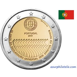 2 euro commémorative - Portugal - 2008 - 60 ans de la Déclaration Universelle des Droits de l'Homme