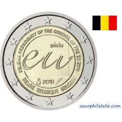 2 euro commémorative - Belgique - 2010 - Présidence Belge de l'Union Européenne