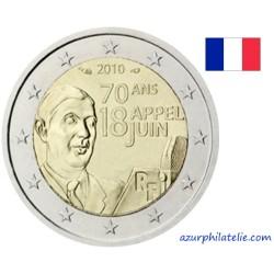 2 euro commémorative - France - 2010 - 70 ans de l'appel du 18 juin du général De Gaulle