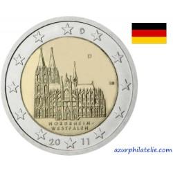 2 euro commémorative - Allemagne - 2011 - Cathédrale de Cologne