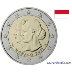 2 euro commémorative - Monaco - 2011 - Mariage d'Albert et Charlène