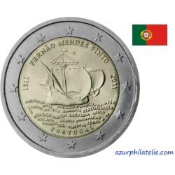 2 euro commémorative - Portugal - 2011 - 500ème anniversaire de la naissance de Mendes Pinto l'explorateur portugais