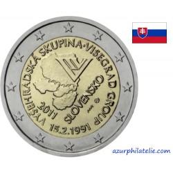 2 euro commémorative - Slovaquie - 2011 - Groupe du Visegrad