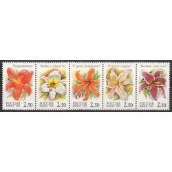 Russie - 2002- No 6617/6621 - Fleurs