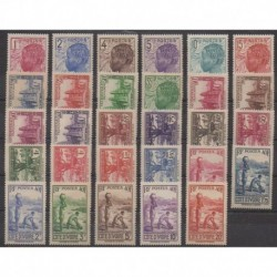 Ivory Coast - 1936 - Nb 109/132 - Mint hinged