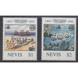 Nevis - 1992 - Nb 652/653 - Christophe Colomb