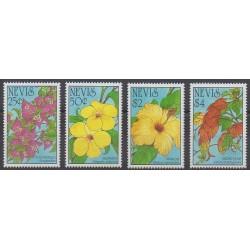 Nevis - 1993 - Nb 721/724 - Flowers