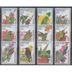 Nevis - 1995 - Nb 827/838 - Birds