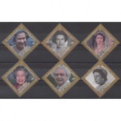 Océan Indien - 2012 - No 482/487 - Royauté - Principauté