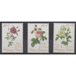 Belgique - 1988 - No 2280/2282 - Roses