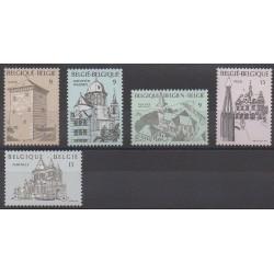 Belgium - 1988 - Nb 2288/2292 - Churches