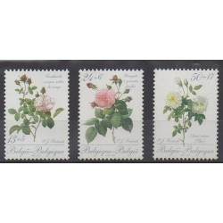 Belgique - 1989 - No 2318/2320 - Roses