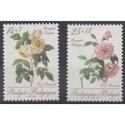 Belgique - 1990 - No 2354/2355 - Roses