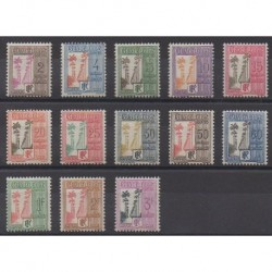 Guadeloupe - 1928 - Nb T25/T37 - Mint hinged