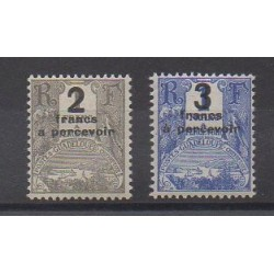 Guadeloupe - 1926 - Nb T23/T24 - Mint hinged