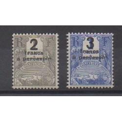 Guadeloupe - 1926 - No T23/T24 - Neufs avec charnière