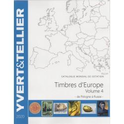 Timbres d'Europe : Volume 4 de Pologne à Russie (Edition 2020)