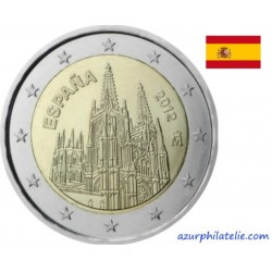 2 euro commémorative - Espagne - 2012 - La cathédrale de Burgos