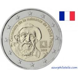 2 euro commémorative - France - 2012 - 100ème anniversaise de la naissance de l'Abbé Pierre
