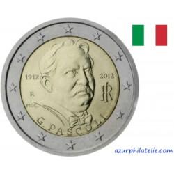 2 euro commémorative - Italie - 2012 - 100ème anniversaire de la mort de Giovanni Pascoli