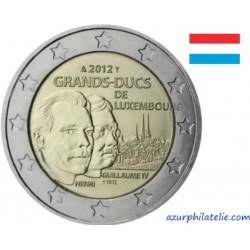 2 euro commémorative - Luxembourg - 2012 - Henri et Guillaume IV