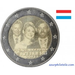2 euro commémorative - Luxembourg - 2012 - Mariage royal