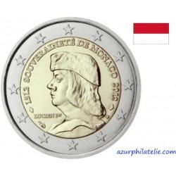 2 euro commémorative - Monaco - 2012 - 500ème anniversaire de la fondation de la souveraineté
